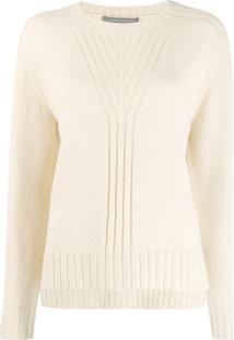 Alberta Ferretti Knitted Crew Neck Sweater - Neutro