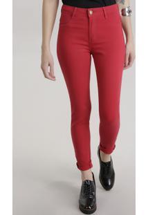 Calça Super Skinny Sawary Vermelha