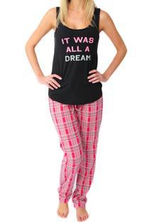 Pijama Luxus Calça Xadrez