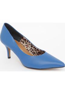 Scarpin Liso- Azul Escuro- Salto: 7Cmmorena Rosa