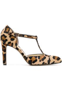 Antonio Barbato Scarpin Animal Print De Couro - Neutro