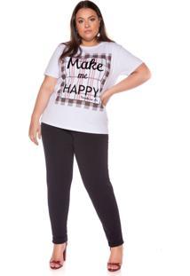 T Shirt M Malha Silk Plenna - Branco