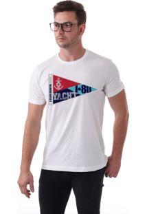 Camiseta Vista Mare J Class Regatta Slim Fit Branca