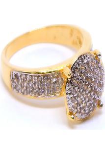 Brinco Coração Pequeno Semijoia Banho De Ouro 18K Zircônia Detalhe Em Ródio