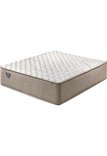 Colchão King Size Com Molas Superlastic High Spring Bege 193X203X33 - Ecoflex