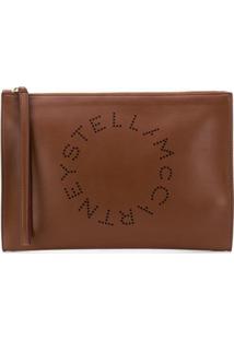 Stella Mccartney Clutch Stella Com Logo - Marrom