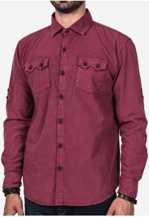 Camisa Vinho Estonada 200162