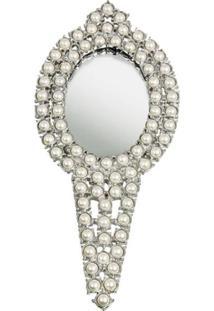Espelho Pedraria De Mão Pérolas Trevisan Concept