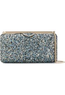 Jimmy Choo Clutch Com Glitter 'Ellipse' - Azul