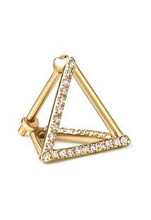Shihara Brinco Triângulo Com Diamantes 10 (03) - Metálico