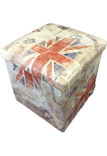 Puff Premium Estampado 36X39X36Cm (Londres)