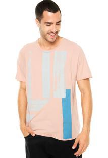 Camiseta Calvin Klein Jeans Tinturada Rosa