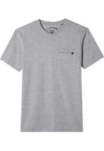 Camiseta John John Pocket Basic Algodão Cinza Mescla Masculina (Mescla Claro, Pp)