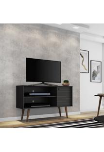 Rack Móveis Bechara Jade Para Tv Até 42 Pol 1 Porta Preto Fosco