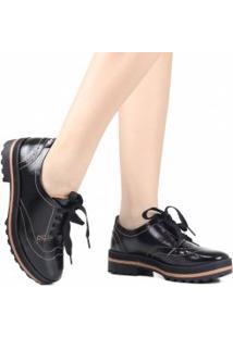 Sapato Dakota Oxford Plataforma Tratorado