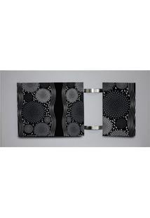 Quadro Geométrico Cinza 60X115Cm