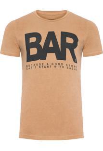 Camiseta Masculina Cam Bar - Marrom