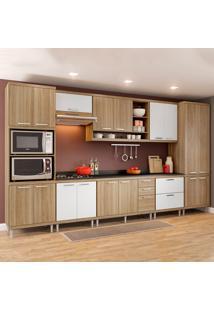 Cozinha Completa Com Tampo 17 Portas 5 Gavetas 5833 Argila/Branco - Multimóveis