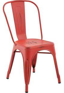 Cadeira Sem Braço Iron-Rivatti - Vermelho / Vintage