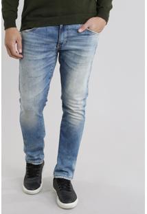 Calça Jeans Masculina Slim Azul Claro