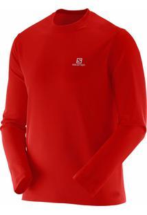 Camiseta Masculina Salomon Comet Ls Vermelho Tam. Egg