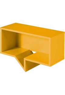 Prateleira Cartoon Retangular Laca Amarelo - 27243 - Sun House