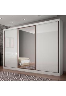 Guarda-Roupa Casal Spazzio 6 Gavetas C/Espelho – Novo Horizonte - Branco