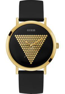 Relógio Guess Unissex Borracha Preta - 92708Lpgtdu1