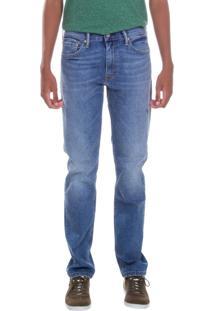 Calça Jeans Levis Masculina 511 Slim Azul Claro Azul