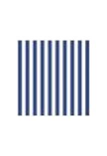 Adesivo De Parede Listradão Azul E Branco
