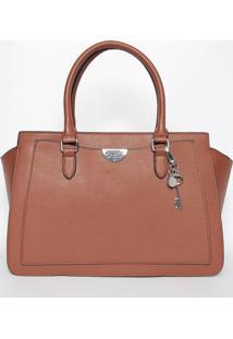 Bolsa Com Pingentes- Marrom Claro- 23X34X15Cm- Gguess