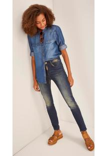 Calça Jeans Skinny Cintura Alta Cobre Jeans 38