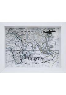 Quadro Cofre Map Branco 13X18Cm