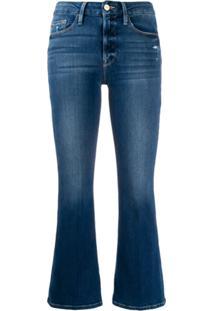 Frame Kick Flare Jeans - Azul