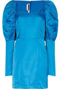 Rotate Vestido Com Mangas Bufantes - Azul