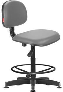 Cadeira Caixa Alta Secretária Giratória Courvin Cinza