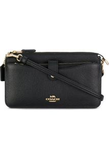 Coach Bolsa Transversal 'Pebble Pop-Up Messenger' - Preto