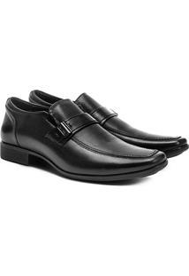 Sapato Social Couro Ferricelli Genebra - Masculino-Preto
