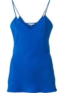 Gold Hawk Blusa Com Alças Finas E Decote V - Azul
