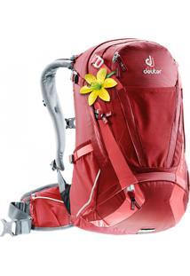 Mochila Trans Alpine 28 Sl Para Atividades Outdoor Vermelha - Deuter