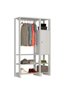 Estante Closet Nova Mobile Yes Com 1 Cabideiro 1 Porta E 6 Nichos
