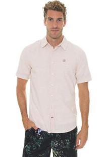 Camisa Timberland Mill River Linen Regular Masculina - Masculino-Bege