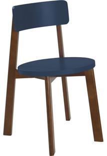 Cadeira De Jantar Lina Cacau E Azul Marinho