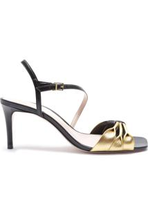 Sandália Classic Party Black Gold | Schutz