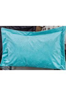 Porta Travesseiro Murano 70Cm X 50Cm Tiffany Em Suede Com 1 Peça - Enxovais Ibitinga