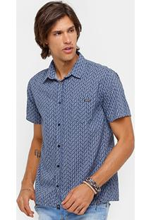 Camisa Sommer Full Print Com Bolso Masculina - Masculino