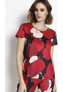Camiseta Com Tag - Bordô & Preta - My Favorite Thingmy Favorite Things