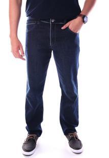 Calça Jeans Traymon Bolso Porta Celular Regular Azul
