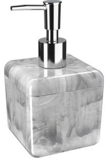 Porta-Sabonete Líquido Cube 330Ml Mármore Branco Coza