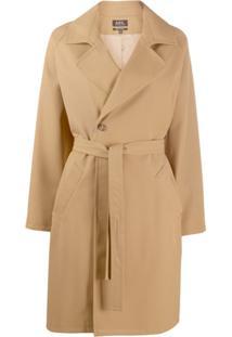 A.P.C. Trench Coat Com Cinto - Marrom